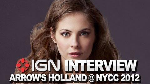 Arrow - Willa Holland on Speedy - NYCC 2012
