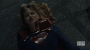 Supergirl's protective suit comes to her