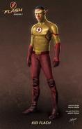 Arte conceitual de Kid Flash