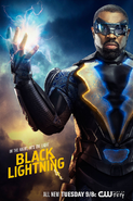 Black Lightning poster - In the Night, He's the Light
