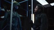 Oliver hallucinates of Slade in the Arrowcave