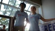 Curtsi Holt and Evelyn Sharp in Amertek costume