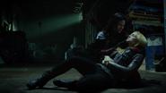 Sara Lance, Nyssa al Ghul and Arrow fight (1)