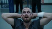 Oliver surrenders himself