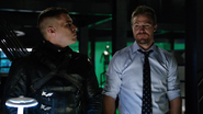 Oliver realizes he's hallucinating Adrian 2