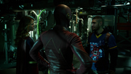 Tean Green Arrow with Flash and Supergirl Cyberwoman (6)