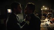 Oliver threatens Simon Morrison