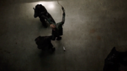 Oliver taking down two assassins at once