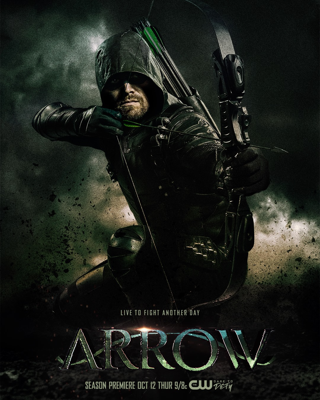 Arrow season 6 poster - Live to Fight Another Day.png