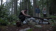 Oliver Queen, Sara Lance and Slade Wilson submit Shado to the grave