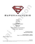 Superman & Lois script title page - Fail Safe