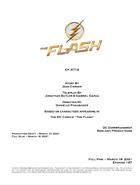 The Flash script title page - Rayo de Luz