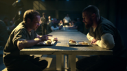 Stanley and Oliver in in the prison canteen