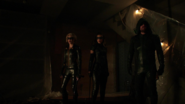 Laurel, Dinah and Oliver rescue Mia and Connor