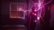 Psych emitting purple lightning