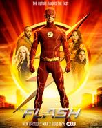 Pôster da Temporada 7 de Flash - O futuro favorece o mais rápido