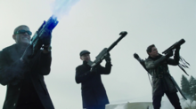 Snart, Darhk and Merlyn attacking the Legends.png
