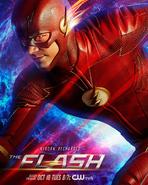The Flash season 4 poster - Reborn. Recharged