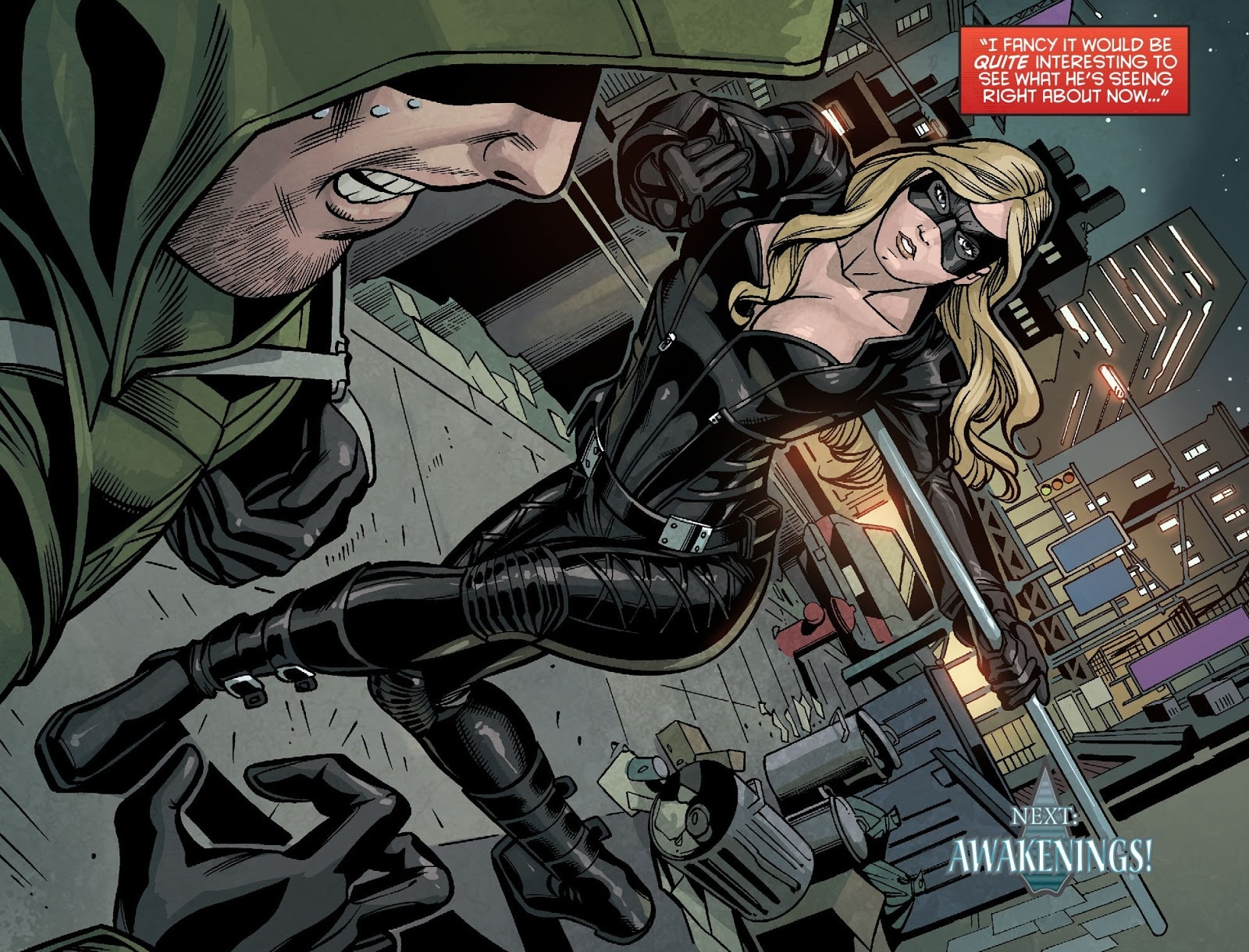 Arrow fights Canary while under the influence.png