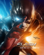 The Flash season 3 poster - Fighting to Stay a Hero