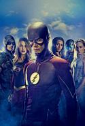 Arrowverse series SDCC 2017 poster