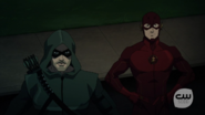 Arrow and Flash talki in Vixen in her new look
