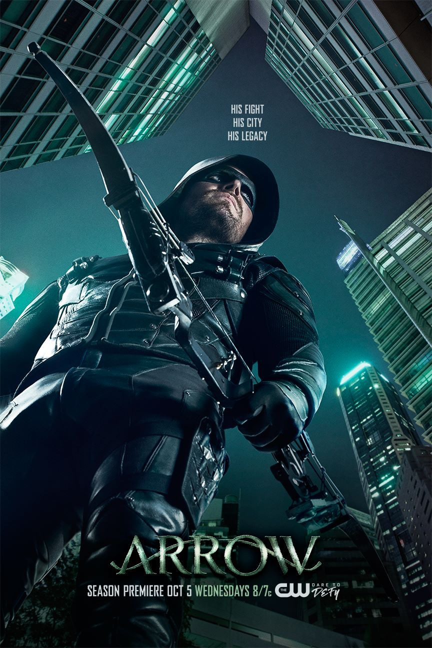 Arrow season 5 poster - His fight, His city, His legacy.png