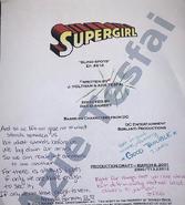 Supergirl script title page - Blind Spots