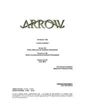 Arrow script title page - Lone Gunmen.png