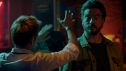 Constantine throws a protective spell at the bar on Chasa