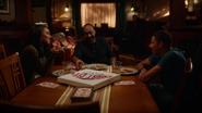Joe, Iris and Wally West eat Coas City Pizza (1)