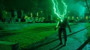 Deon Owens emitting green lightning