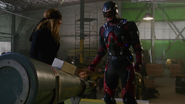 Ray Palmer loses a piece of armor (1)
