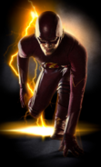 Imagem promocional de Grant Gustin como Flash