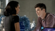 Iris and Barry in S.T.A.R. Labs