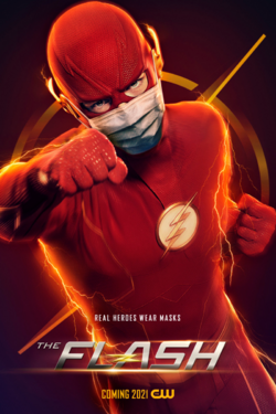 The Flash poster - Real Heroes Wear Masks.png