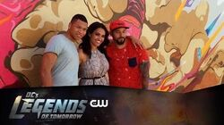 DC's Legends of Tomorrow Firestorm Mural Behind The Scenes The CW