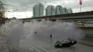 Clyde generando niebla ante Barry
