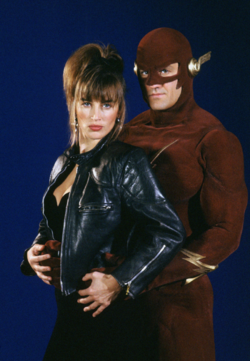 The Flash (CBS) - Tina McGee and the Flash promotional image.png