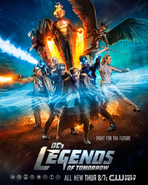DC's Legends of Tomorrow season 1 poster - Fight For The Future