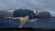 Sara Lance swim in the sea