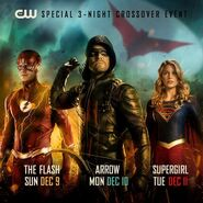 Arrow and The Flash and Supegirl Crossover poster