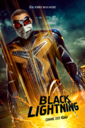 Black Lightning poster - Real Heroes Wear Masks