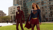 Supergirl and Flash fight on Silver Banshee and Livewire (1)