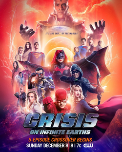Crisis on Infinite Earths poster - It's the end...of the worlds.png