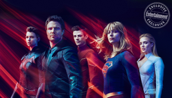 Entertainment Weekly cover shoot - Batwoman, Green Arrow, The Flash, Supergirl and White Canary.png