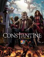 Constantine illustrated poster