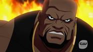 Eshu fight with Vixen, Kuasa, Atom and Black Canary (3)