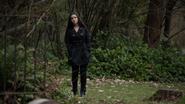Evelyn Sharp at the funeral Laurel Lance