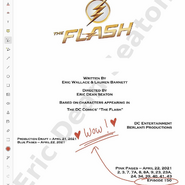 The Flash script title page - Heart of the Matter, Part 1